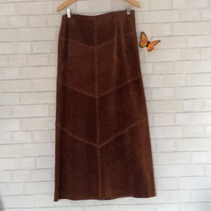 Dresses & Skirts - Bagatelle Suede Leather Skirt Size 10